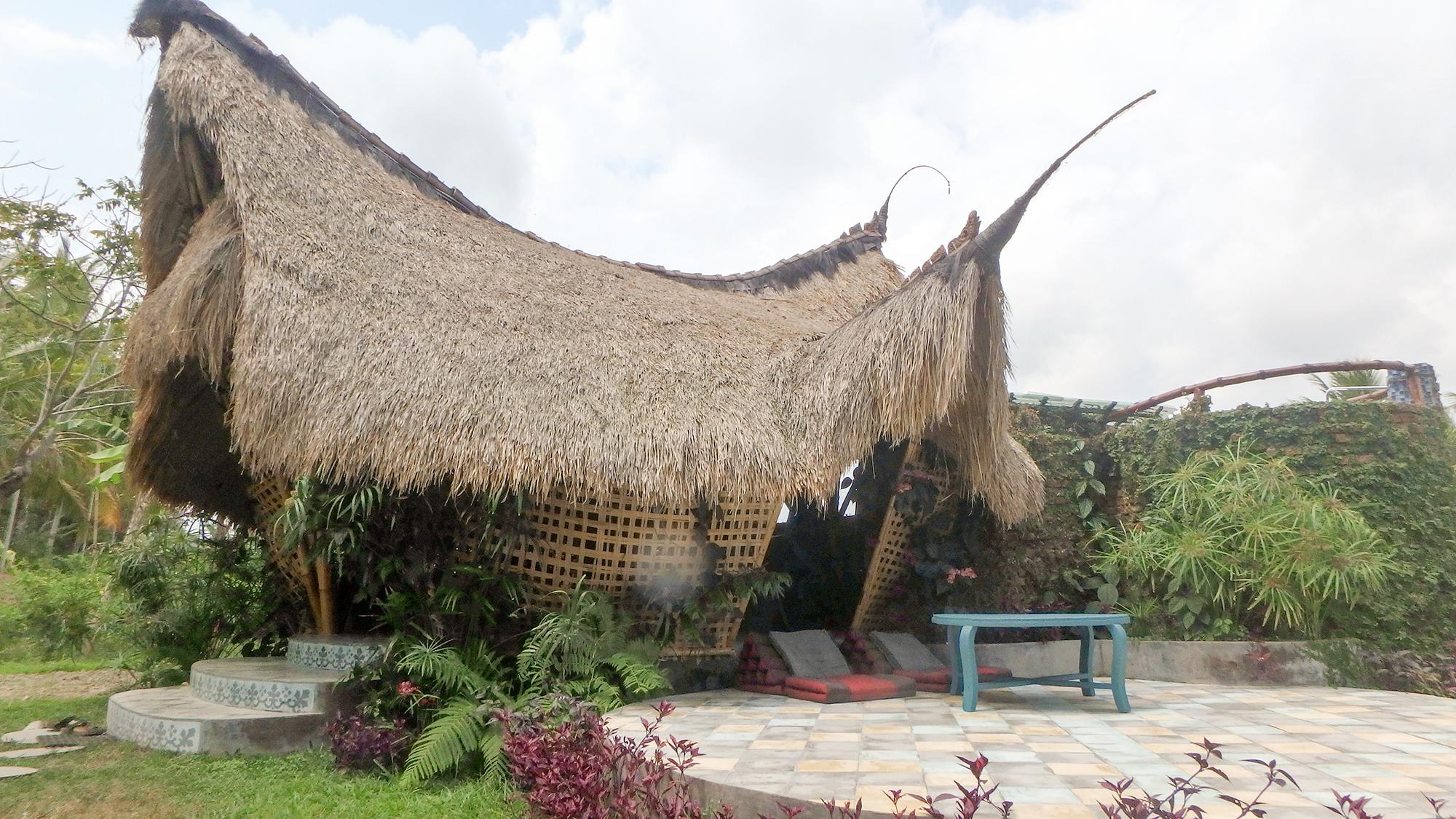 bamboo eco hut