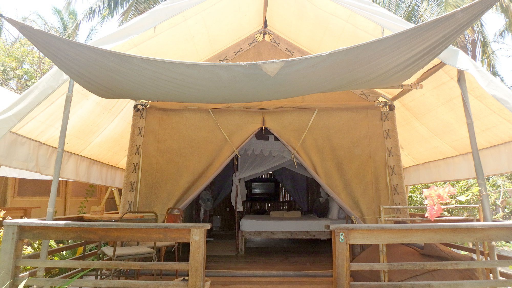 our safari tent