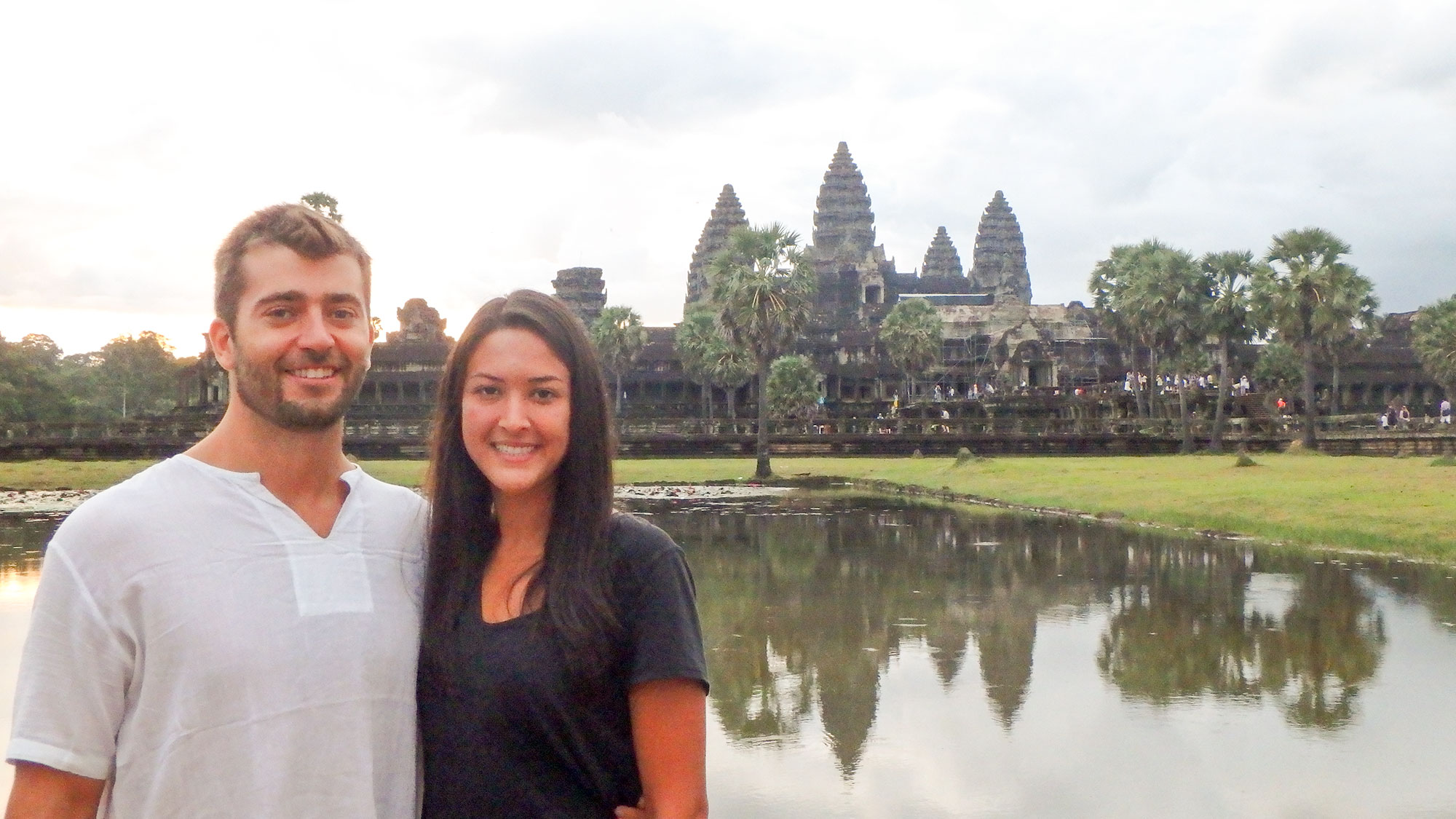 Dan and Meghan in front of Angkor Wat