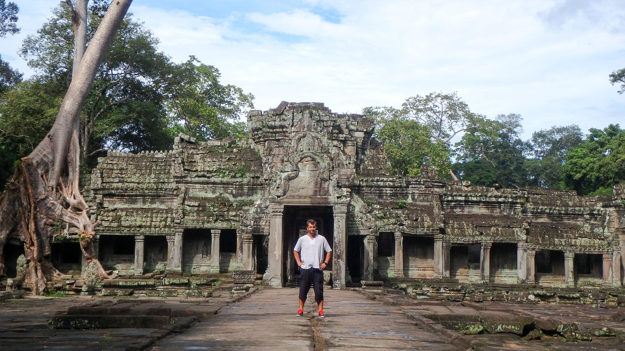 Dan in front of temple